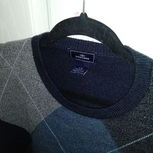 Diamond pattern men's sweater